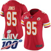Wholesale Cheap Nike Chiefs #95 Chris Jones Red Super Bowl LIV 2020 Team Color Women's Stitched NFL 100th Season Vapor Untouchable Limited Jersey