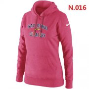 Wholesale Cheap Women's Nike San Diego Chargers Heart & Soul Pullover Hoodie Pink