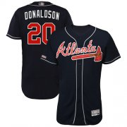 Wholesale Cheap Braves #20 Josh Donaldson Navy Blue Flexbase Authentic Collection Stitched MLB Jersey