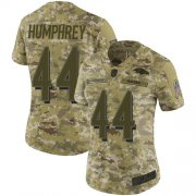 Wholesale Cheap Nike Ravens #44 Marlon Humphrey Camo Women's Stitched NFL Limited 2018 Salute to Service Jersey