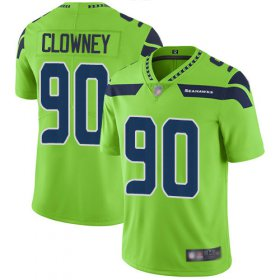 Wholesale Cheap Nike Seahawks #90 Jadeveon Clowney Green Youth Stitched NFL Limited Rush Jersey