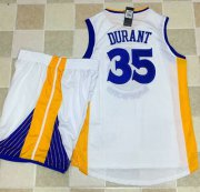 Wholesale Cheap Warriors #35 Kevin Durant White A Set Stitched NBA Jersey