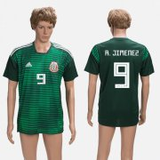 Wholesale Cheap Mexico #9 R.Jimenez Green Training Soccer Country Jersey