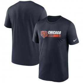 Wholesale Cheap Chicago Bears Nike Fan Gear Team Conference Legend Performance T-Shirt Navy