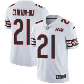 Wholesale Cheap Nike Bears #21 Ha Ha Clinton-Dix White Men\'s 100th Season Stitched NFL Vapor Untouchable Limited Jersey
