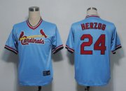 Wholesale Cheap Mitchell And Ness Cardinals #24 Whitey Herzog Blue Throwback Stitched MLB Jersey