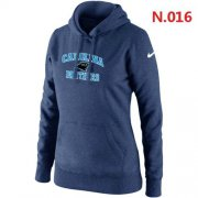 Wholesale Cheap Women's Nike Carolina Panthers Heart & Soul Pullover Hoodie Dark Blue