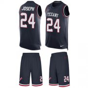 Wholesale Cheap Nike Texans #24 Johnathan Joseph Navy Blue Team Color Men's Stitched NFL Limited Tank Top Suit Jersey