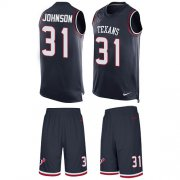 Wholesale Cheap Nike Texans #31 David Johnson Navy Blue Team Color Men's Stitched NFL Limited Tank Top Suit Jersey