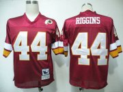 Wholesale Cheap Mitchell and Ness Redskins #44 John Riggins Red Stitched Throwback NFL Jersey