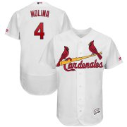 Wholesale Cheap St. Louis Cardinals #4 Yadier Molina Majestic 2019 Hispanic Heritage Flex Base Authentic Player Jersey White