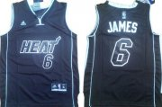 Cheap Miami Heat #6 LeBron James All Black With Heat Kids Jersey