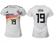 Wholesale Cheap Women's Germany #19 Gotze White Home Soccer Country Jersey