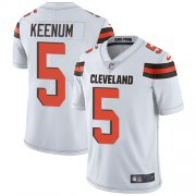 Wholesale Cheap Nike Browns #5 Case Keenum White Youth Stitched NFL Vapor Untouchable Limited Jersey