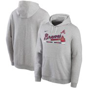Wholesale Cheap Atlanta Braves Nike Color Bar Club Pullover Hoodie Gray