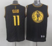 Wholesale Cheap Dallas Mavericks #11 Monta Ellis Revolution 30 Swingman 2014 Black With Gold Jersey