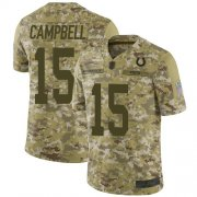 Wholesale Cheap Nike Colts #15 Parris Campbell Camo Men's Stitched NFL Limited 2018 Salute To Service Jersey