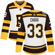 Wholesale Cheap Adidas Bruins #33 Zdeno Chara White Authentic 2019 Winter Classic Women's Stitched NHL Jersey