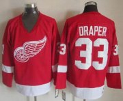 Wholesale Red Wings #33 Kris Draper Red CCM Throwback Stitched NHL Jersey