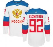 Wholesale Cheap Team Russia #92 Evgeny Kuznetsov White 2016 World Cup Stitched NHL Jersey