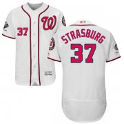 Wholesale Cheap Nationals #37 Stephen Strasburg White Flexbase Authentic Collection 2019 World Series Champions Stitched MLB Jersey