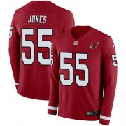 Wholesale Cheap Nike Cardinals #55 Chandler Jones Red Team Color Men's Stitched NFL Limited Therma Long Sleeve Jersey