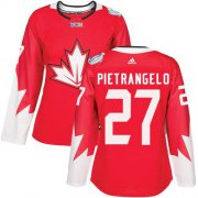 Wholesale Cheap Team Canada #27 Alex Pietrangelo Red 2016 World Cup Women's Stitched NHL Jersey