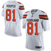 Wholesale Cheap Nike Browns #81 Austin Hooper White Men's Stitched NFL New Elite Jersey