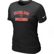 Wholesale Cheap Women's Nike Tampa Bay Buccaneers Heart & Soul NFL T-Shirt Black