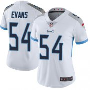 Wholesale Cheap Nike Titans #54 Rashaan Evans White Women's Stitched NFL Vapor Untouchable Limited Jersey