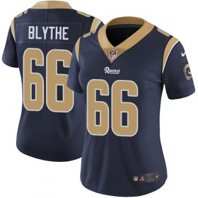 Wholesale Cheap Nike Rams #66 Austin Blythe Navy Blue Team Color Women\'s Stitched NFL Vapor Untouchable Limited Jersey