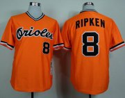 Wholesale Cheap Mitchell and Ness 1982 Orioles #8 Cal Ripken Orange Throwback Stitched MLB Jersey