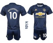 Wholesale Cheap Manchester United #10 Ibrahimovic Third Kid Soccer Club Jersey
