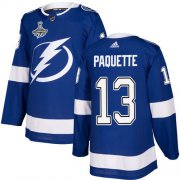 Cheap Adidas Lightning #13 Cedric Paquette Blue Home Authentic 2020 Stanley Cup Champions Stitched NHL Jersey