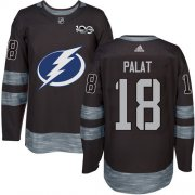 Wholesale Cheap Adidas Lightning #18 Ondrej Palat Black 1917-2017 100th Anniversary Stitched NHL Jersey