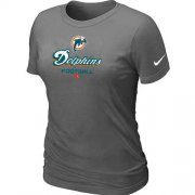 Wholesale Cheap Women's Nike Miami Dolphins Critical Victory NFL T-Shirt Dark Grey