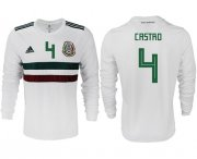Wholesale Cheap Mexico #4 Castro Away Long Sleeves Soccer Country Jersey