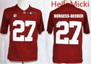 Wholesale Cheap Men's Alabama Crimson Tide #27 Shawn Burgess-Becker Red 2016 BCS College Football Nike Limited Jersey