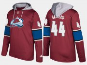 Wholesale Cheap Avalanche #44 Mark Barberio Burgundy Name And Number Hoodie