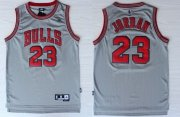 Wholesale Cheap Chicago Bulls #23 Michael Jordan 2013 Gray Swingman Jersey