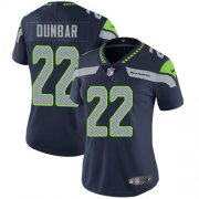 Wholesale Cheap Nike Seahawks #22 Quinton Dunbar Steel Blue Team Color Women's Stitched NFL Vapor Untouchable Limited Jersey