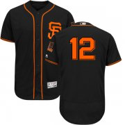 Wholesale Cheap Giants #12 Joe Panik Black Flexbase Authentic Collection Alternate Stitched MLB Jersey