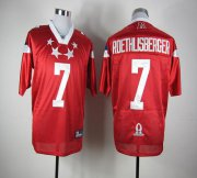 Wholesale Cheap Steelers #7 Ben Roethlisberger Red 2012 Pro Bowl Stitched NFL Jersey
