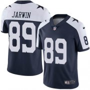 Wholesale Cheap Nike Cowboys #89 Blake Jarwin Navy Blue Thanksgiving Youth Stitched NFL 100th Season Vapor Throwback Limited Jersey