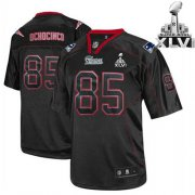 Wholesale Cheap Patriots #85 Chad OchoCinco Lights Out Black Super Bowl XLVI Embroidered NFL Jersey