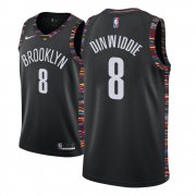 Wholesale Cheap Men's Brooklyn Nets #8 Spencer Dinwiddie Black City Edition Nike Swingman Jersey