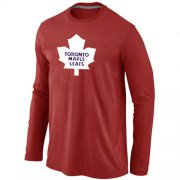 Wholesale Cheap NHL Toronto Maple Leafs Big & Tall Logo Long Sleeve T-Shirt Red