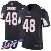 Wholesale Cheap Nike Cardinals #48 Isaiah Simmons Black Alternate Youth Stitched NFL 100th Season Vapor Untouchable Limited Jersey