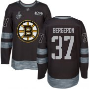 Wholesale Cheap Adidas Bruins #37 Patrice Bergeron Black 1917-2017 100th Anniversary Stanley Cup Final Bound Stitched NHL Jersey