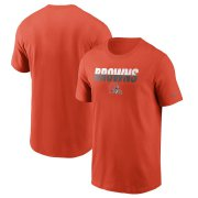 Wholesale Cheap Cleveland Browns Nike Split T-Shirt Orange